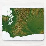 Map of Washington 3 Mousepad