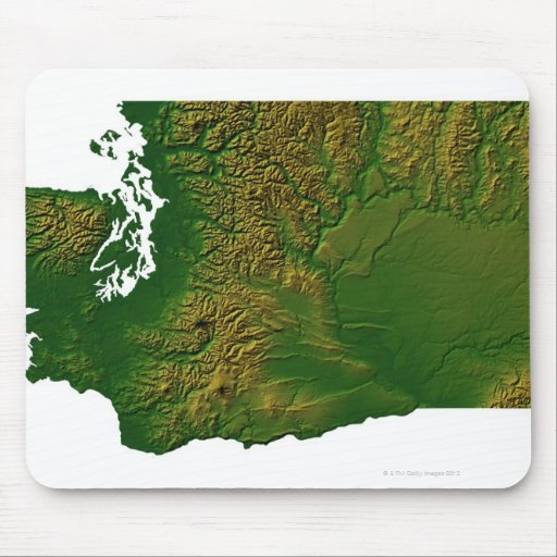 Map of Washington 3 Mousepad