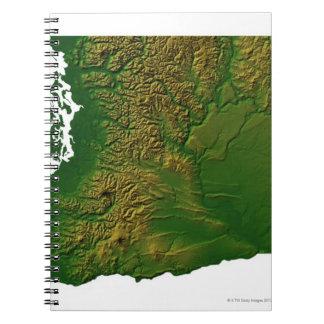 Map of Washington 3 Notebook