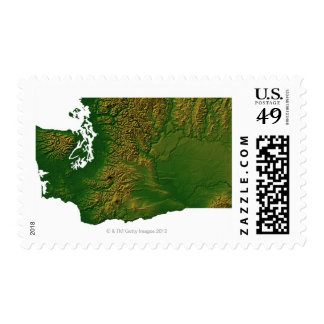 Map of Washington 3 Postage