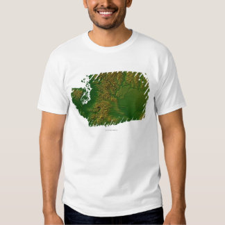 Map of Washington 3 T Shirt