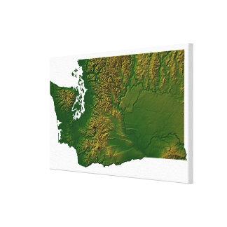 Map of Washington Canvas Print