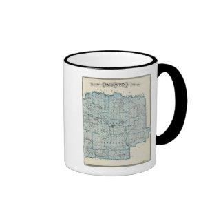Map of Washington County Coffee Mug