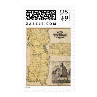 Map of Washington County, Minnesota Postage
