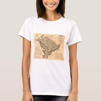 Map of Washington D.C. (1886) T-Shirt