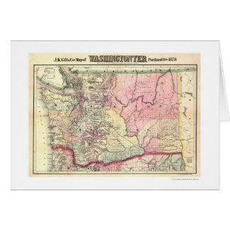 Map of Washington Territory by JK Gill 1878 Card