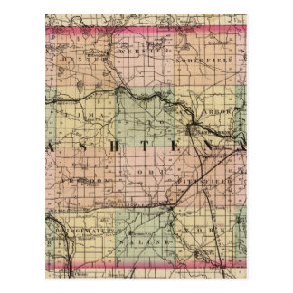 Map of Washtenaw County, Michigan Postcard