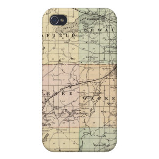 Map of Waukesha County, State of Wisconsin iPhone 4 Case
