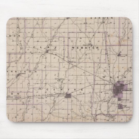 Map of Wayne County 2 Mouse Pad