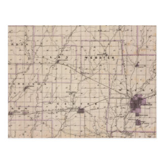 Map of Wayne County 2 Postcard