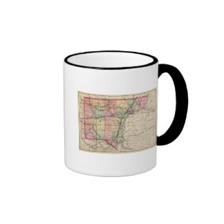 Map of Wayne County, Michigan Ringer Mug