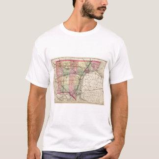 Map of Wayne County, Michigan T-Shirt