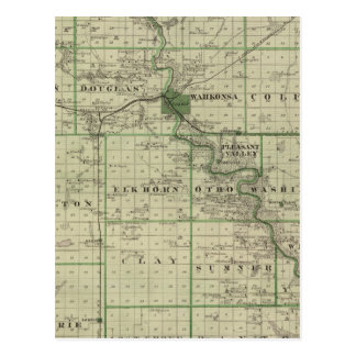 Map of Webster County, State of Iowa Postcard