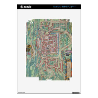 Map of Weimar, from 'Civitates Orbis Terrarum' by Decal For iPad 3