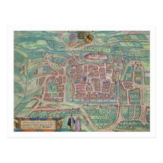 Map of Weimar, from 'Civitates Orbis Terrarum' by Postcard