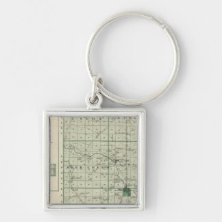 Map of Wells County with Ossian, Wells Co Keychain