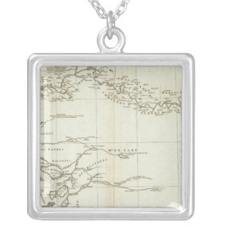 Map of West Africa Square Pendant Necklace