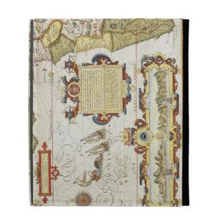 Map of West African coastline, 1596 (hand coloured iPad Folio Cases