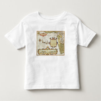 Map of West African coastline, 1596 (hand coloured Toddler T-shirt