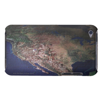 Map of West Coast USA iPod Touch Case-Mate Case