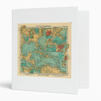 Map of West Indies from 1906 in German 3 Ring Binder