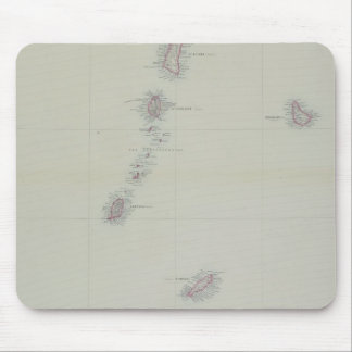 Map of West Indies Mouse Pad