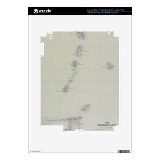Map of West Indies Skins For iPad 3