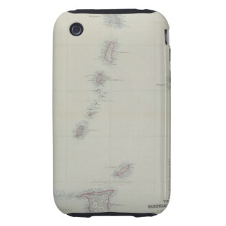 Map of West Indies Tough iPhone 3 Case
