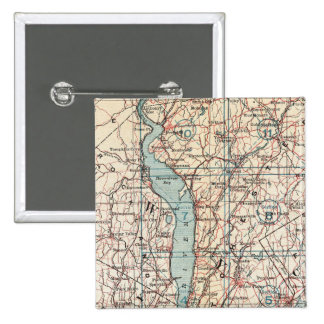 Map of Westchester County, New York Button
