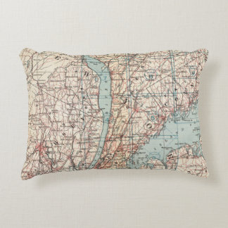 Map of Westchester County, New York Accent Pillow
