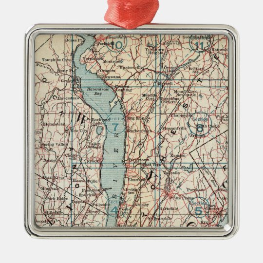 Map of Westchester County, New York Metal Ornament