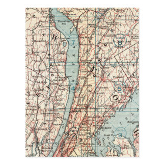Map of Westchester County, New York Postcard
