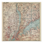 Map of Westchester County, New York Posters