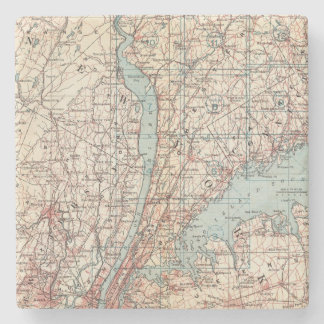 Map of Westchester County, New York Stone Coaster