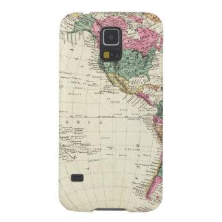 Map of Western Hemisphere Galaxy S5 Case
