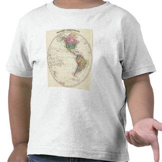 Map of Western Hemisphere T Shirts