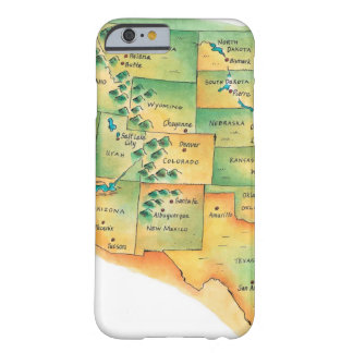 Map of Western United States Barely There iPhone 6 Case