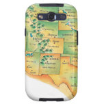 Map of Western United States Samsung Galaxy S3 Cases