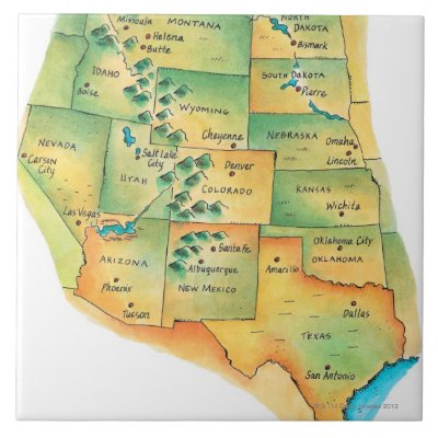 Map of Western United States Poster   Zazzle.com