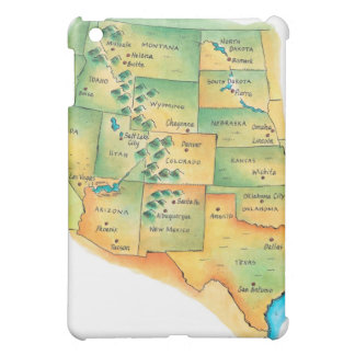Map of Western United States Case For The iPad Mini