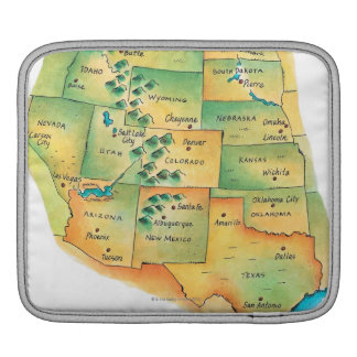 Map of Western United States iPad Sleeve