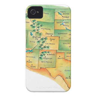 Map of Western United States iPhone 4 Case-Mate Case