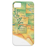 Map of Western United States iPhone 5 Cases
