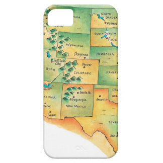 Map of Western United States iPhone SE/5/5s Case