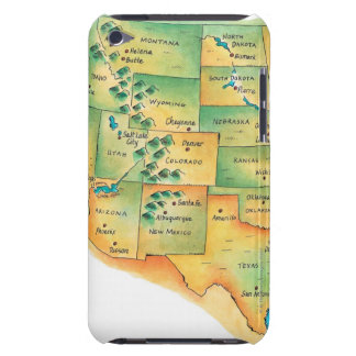Map of Western United States iPod Touch Case