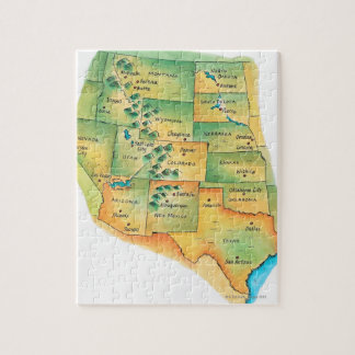 Map of Western United States Jigsaw Puzzle