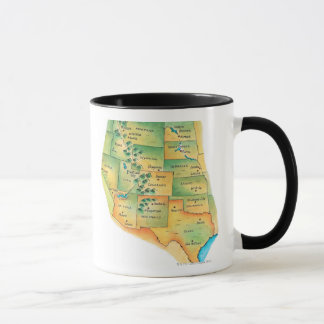 Map of Western United States Mug