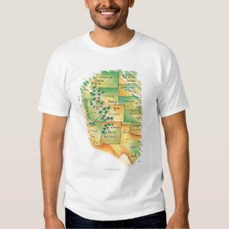 Map of Western United States Shirt