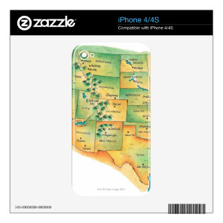 Map of Western United States Skin For The iPhone 4S