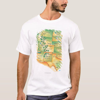 Map of Western United States T-Shirt